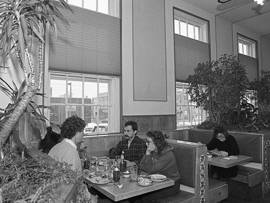 Customers eat at the The PanTree Restaurant which was located at 327 Abbott Road, East Lansing.