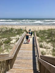 The beaches are almost never crowded even in high season on Emerald Isle, N.C.