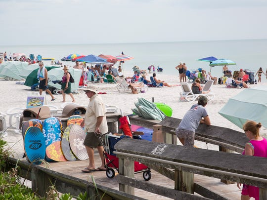 As winter residents and other tourists start to head north for the summer, many businesses are feeling the pinch, including beach rental companies like Cabana Dan's, at Vanderbilt Beach Wednesday, April 19, 2017, in North Naples.