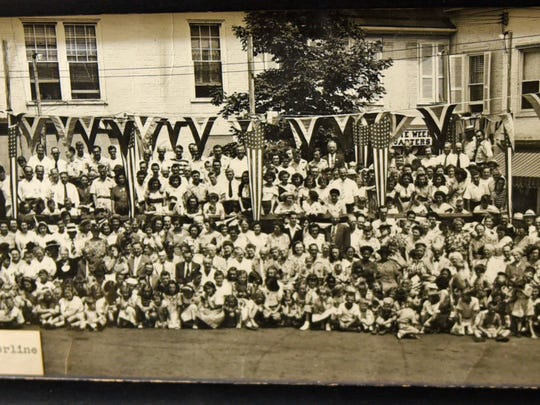 This is a copy of a 1947 photo of the Old Home Week