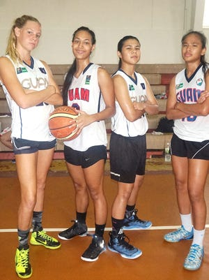 This file photo shows the Guam U18 girls team that competed at the FIBA 3x3 U18 World Championships in Debrecen, Hungary in 2015. From left, Alison Bowman, Kali Benavente, Joylyn Pangilinan and Destiny Castro represented Guam at the event.