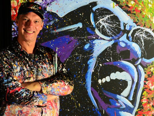 Speed painter Dan Dunn at Silver Dollar City's Festival