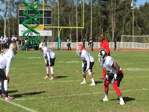 2016 East-West Shrine Game practices
