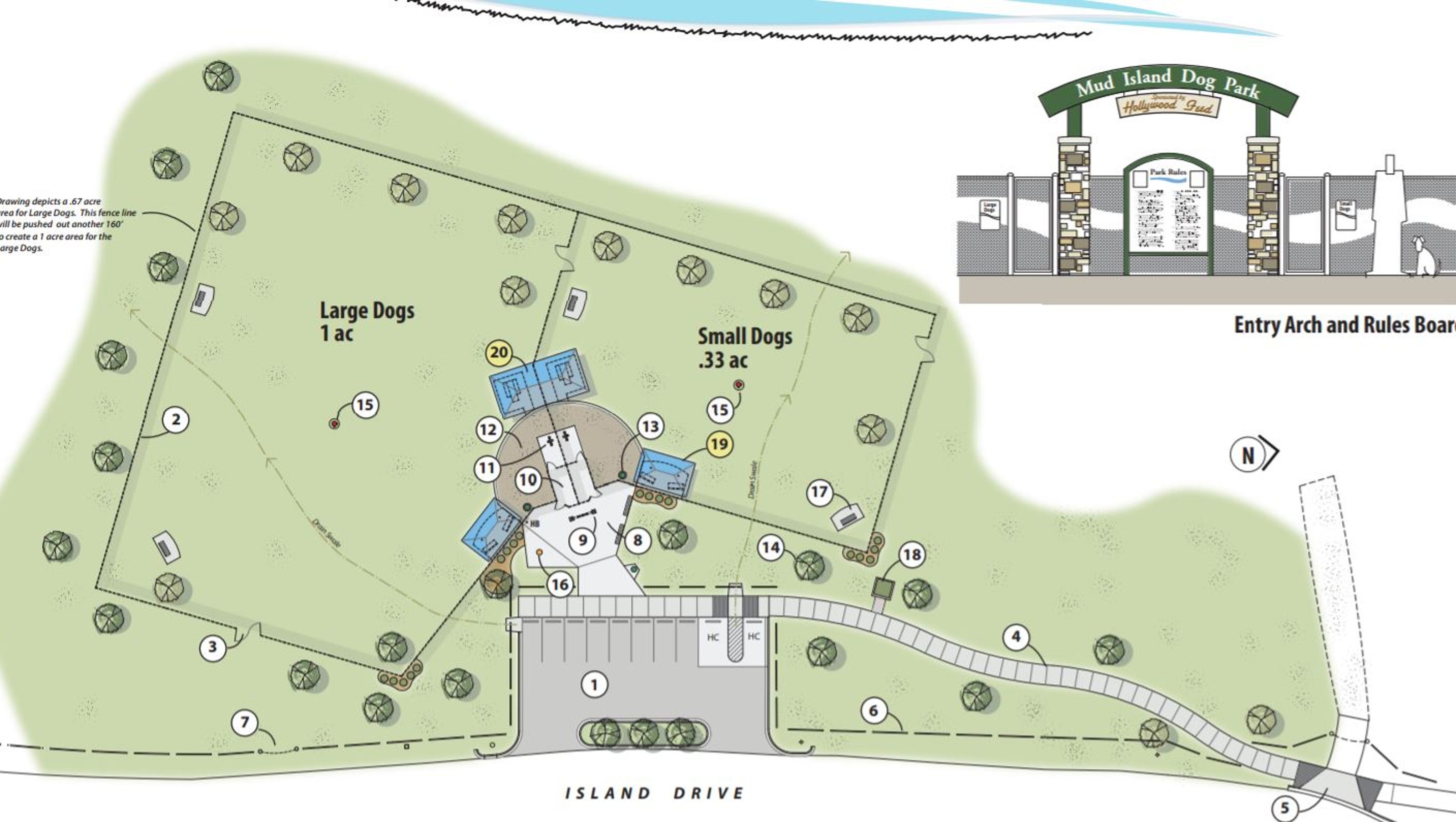 Mud Island Dog Park Being Constructed