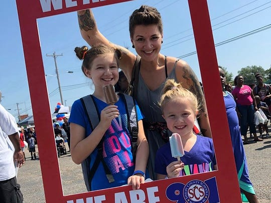 Shelby County Schools held a back-to-school block party on Saturday to register students and celebrate the last few days of summer before the first day of school on Monday.