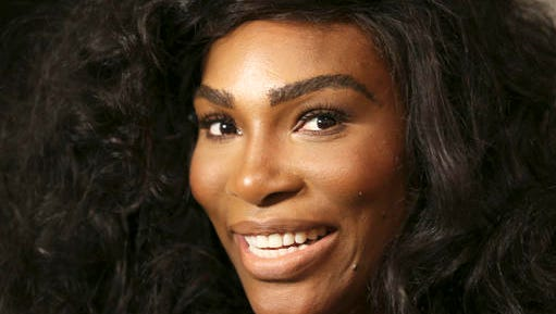FILE - In a Monday, Sept. 12, 2016 file photo, Serena Williams speaks to reporters before showing her Serena Williams Signature Statement Spring 2017 collection during Fashion Week in New York. Williams announced her engagement to Alexis Ohanian on Thursday, Dec. 29, 2016, posting a poem on Reddit that she accepted the proposal of the social news website's co-founder.