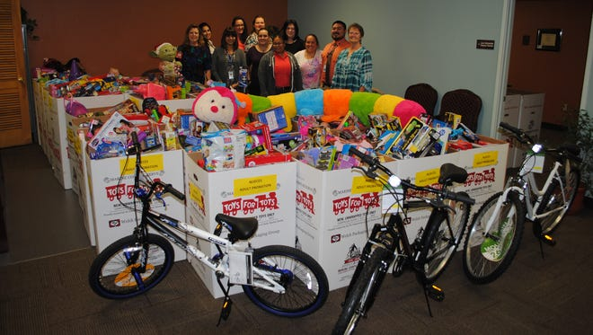 Nueces County Community Supervision and Corrections staff recently celebrated their first Toys for Tots Toy drive.