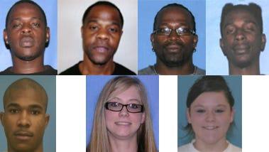 Clockwise: Antonie Liddell, Frank FInley, Brandon Gilmore, Darkeyus Brown, Andre Williams, Allison Patrick, Hailey Spears.