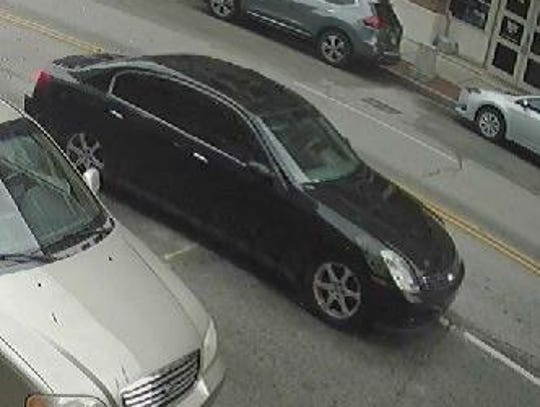 One of the vehicles involved in a shooting at N. 4th