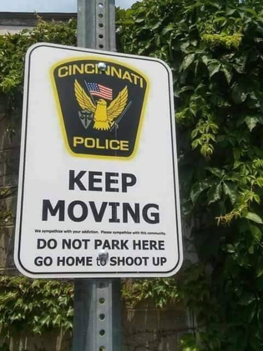 Police sign not real, say cops