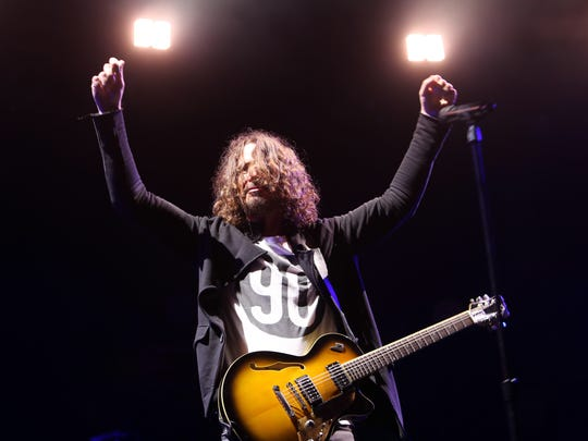 Chris Cornell of Soundgarden performs in 2017 at Fort Rock, the final band that performed at the two-day hard rock event. Cornell would take his own life after a Soundgarden in Detroit less than two months later.