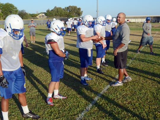 Odem head football coach and athletic director A.J.