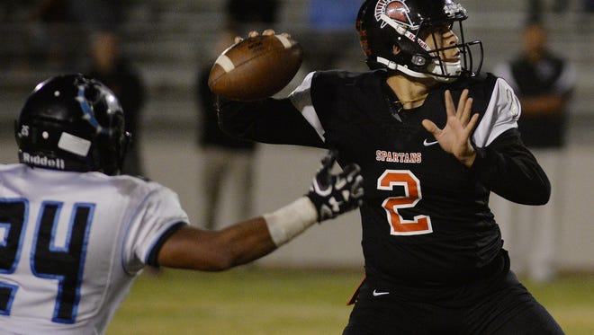 Quarterback Austin Maciel and Rio Mesa play at Oxnard on Friday night in a Pacific View League showdown.