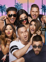Clockwise, from left: Pauly D, JWoww, Ronnie, Deena,