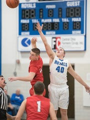 Wynford's Kevan Hughett is one of the standouts in the paint this season.