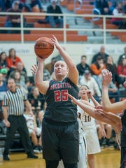 Courtney Pifher is averaging a double-double this season as a junior.