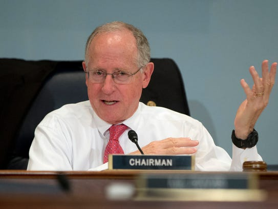 FILE - In this Oct. 7, 2015 file photo, Rep. Mike Conaway,