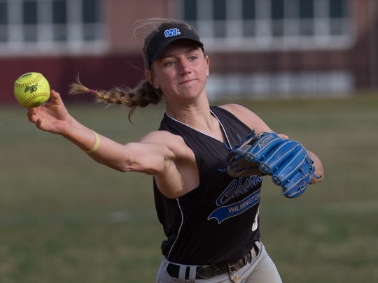 Charter of Wilmington softball center fielder Taylor Gillis is the Delaware Online Athlete of the Week for Week 1 of the spring season.