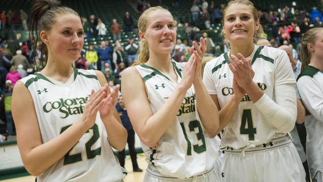 The CSU women's basketball team, shown in a file photo, blasted Nevada on the road Saturday for its 17th win in a row.