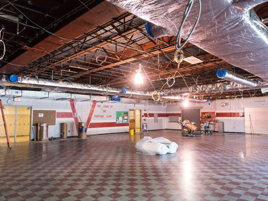 The cafeteria lays barren in the 53-year-old Vineland