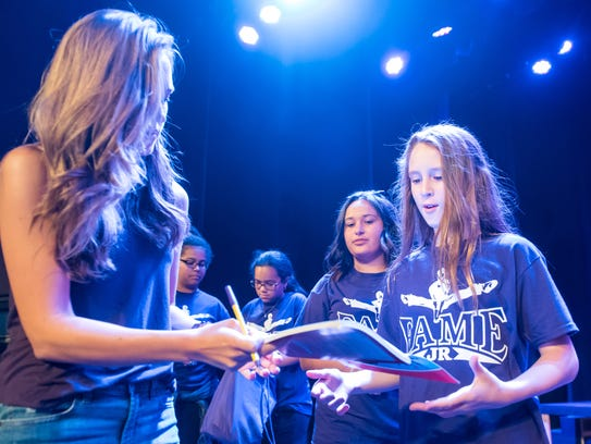 Laura Osnes signs autographs following a Master Class