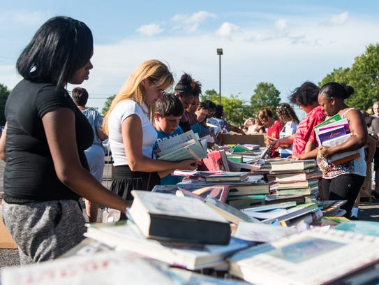 """The Vineland School District hosted a """"Free Book Giveaway"""