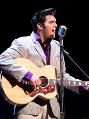 """Elvis joins Carl Perkins, Jerry Lee Lewis and Johnny Cash in """"Million Dollar Quartet"""" on Sunday, April 12, at Stephens Auditorium in Ames."""