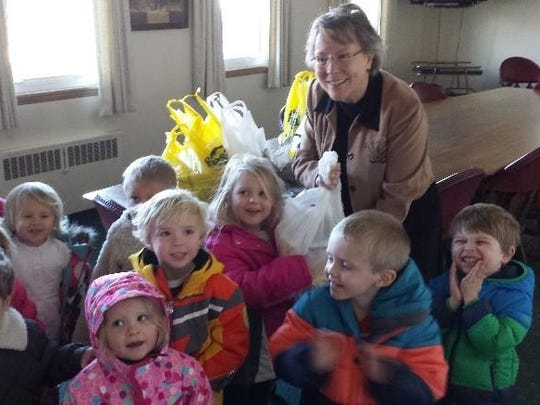 The St. Margaret Mary students gathered and delivered