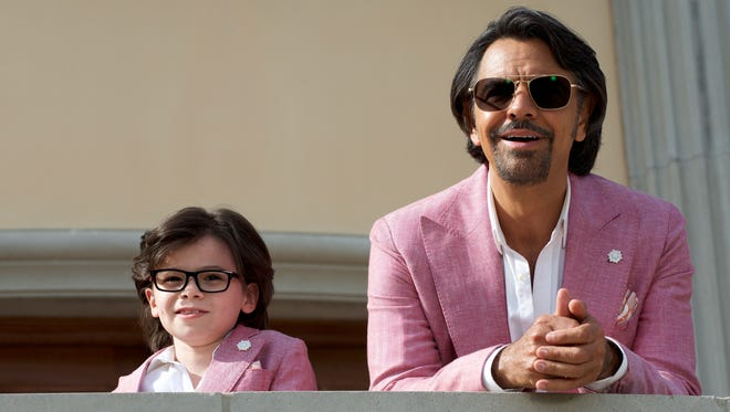 Ousted gigalo Maximo (Eugenio Derbez, right) schools his nephew, Hugo (Raphael Alejandro), in the ways of wooing.