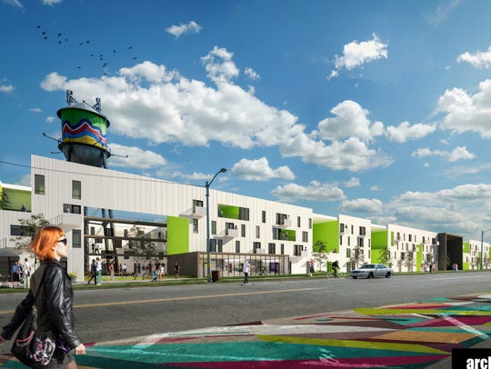 A proposed mixed-use development would preserve and