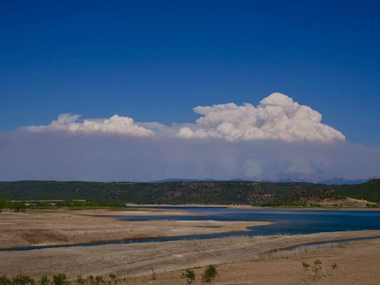 The Burro Fire, reported on June 8, has grown to almost 3,000 acres as it progresses northeast toward the Hermosa Creek Wilderness at 0 percent containment. This photo was taken Tuesday.