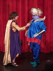 """James McArthur (left) starred as Aladdin and James Smith played the Genie in last year's production of """"Aladdin, Jr."""" McArthur and Smith are people with disabilities."""