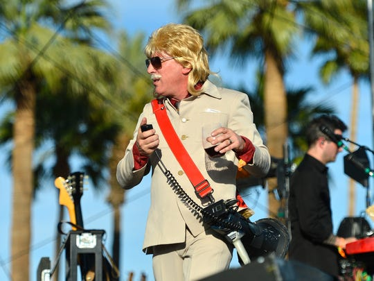 James Keenan of Puscifer performs onstage during day 2 of the 2013 Coachella Valley Music & Arts Festival at The Empire Polo Club on April 13, 2013 in Indio, California.