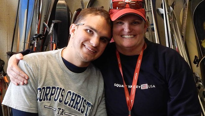 Sean Marusich with his mother, Laura.