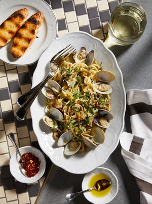 Linguini with clam sauce brings the sea to your plate at Angeline at the Borgata in Atlantic City.