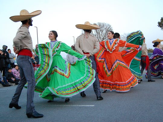 Folklorico dancers perform at the 100th anniversary of the Salinas Adult School Thursday.