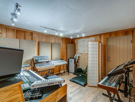 The Pate Road home includes a recording studio located