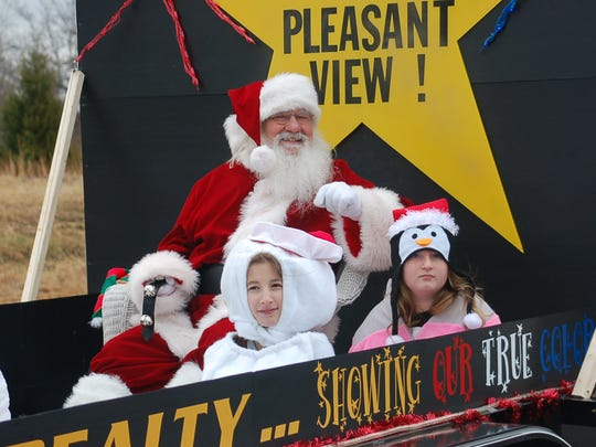 The Pleasant View Christmas parade begins at 10 a.m. Dec. 2.
