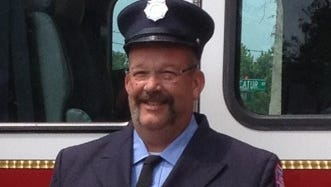 Peekskill firefighter Kevin Bristol, who felt ill at a fire and later died of an apparent heart attack on Monday, March 3, 2014.