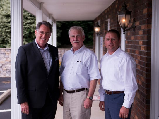 From left, Jeff Bibb, Charlie Foust and Norman Quirion