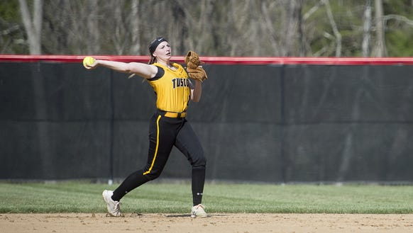 Pisgah and Tuscola played softball Tuesday in Canton.