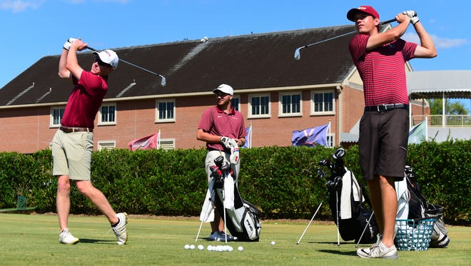 Member's of the Florida State Club Golf team practice their putting and strokes on the Don Veller Golf Course on Wednesday, April 26th.