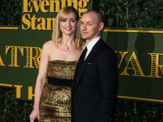 Anne-Marie Duff and James McAvoy attended the Evening