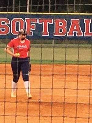 Effingham County senior pitcher Julia Carter hurled a one-hitter against Statesboro on Thursday. The Rebels won 7-0.