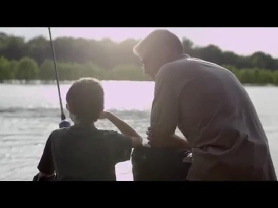 "John McGrew of Pollock fishes with his son Joshua in a video tribute for Father's Day. Octavia Jackson Williams of Pineville brings forth that message in a video released June 14. The locally filmed and produced video features four local fathers with their families as Williams plays piano and sings ""Father's Day,"" a song from her EP ""Cheerleader."" The video is available on her Facebook page, at www.simplyoctavia.com and on YouTube."