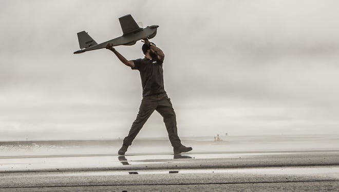 The Puma AE (All Environment), a small unmanned aircraft system designed for land-based and maritime operations, is launched in Alaska.