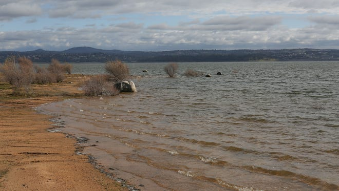 Folsom Lake, just outside Sacramento, California, was 63 percent full on Dec. 16, 2016. But that was 130 percent of its historical average for that date, following strong rains in the area. Folsom Lake is California's ninth-largest reservoir.