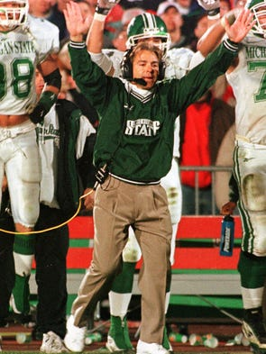 Nick Saban won the job of head coach at Michigan State in 1995, following an array of assistant coaching jobs and a head coach position at Toledo.