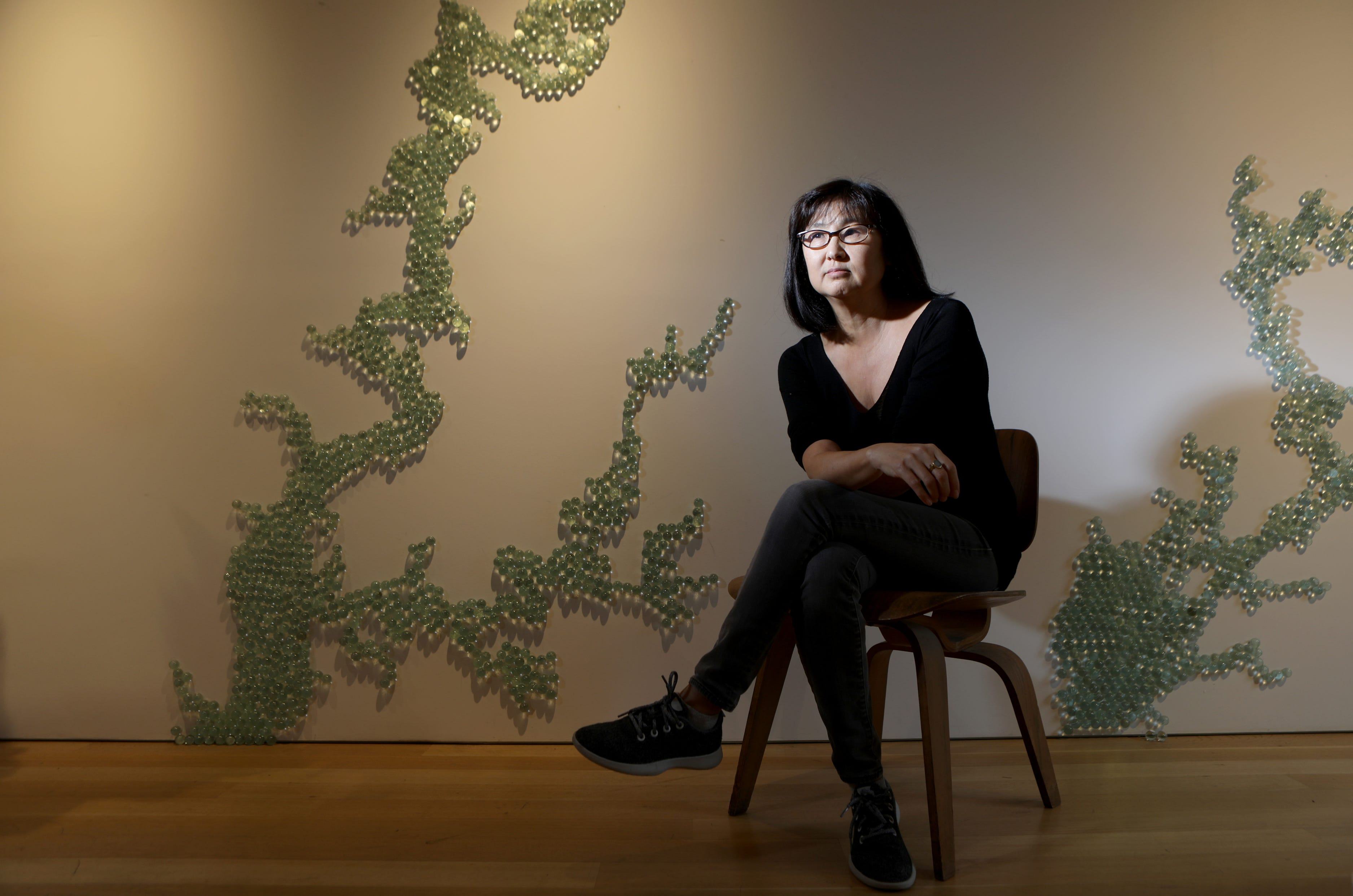 Maya Lin, Who Designed The Vietnam Veterans Memorial In Washington When She  Was An Undergraduate At Yale, In Her Manhattan Studio.