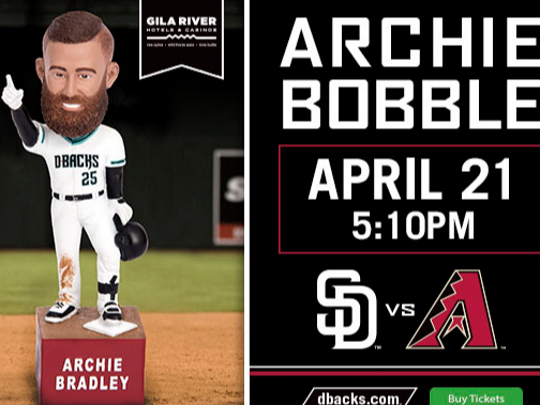 You can have an Archie Bradley Diamondbacks bobblehead. Just be sure to get to Saturday's Diamondbacks game early.